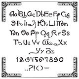 Roteiro latino no estilo indiano Fotografia de Stock Royalty Free