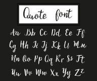 Roteiro moderno tirado mão, fonte das citações Fotografia de Stock Royalty Free