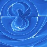 Rotella blu del fiore illustrazione di stock