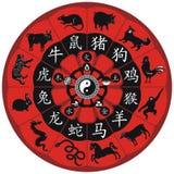 Rotella cinese dello zodiaco royalty illustrazione gratis