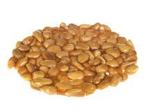 Rotella del nougat del miele e della mandorla immagine stock