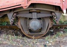 Rotella del treno Fotografia Stock