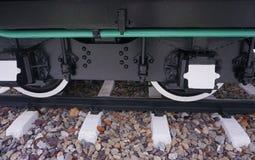 Rotella del treno del vapore Immagini Stock