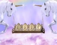 Rotella dell'unicorno Fotografia Stock