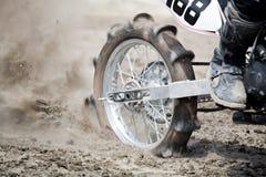 Rotella della bici della sporcizia immagini stock