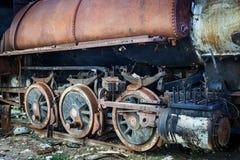 Rotella della locomotiva di vapore Immagine Stock Libera da Diritti