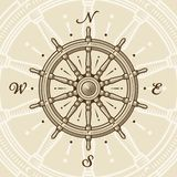 Rotella della nave dell'annata royalty illustrazione gratis
