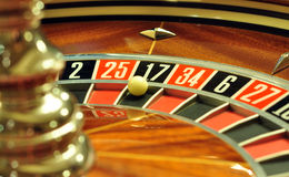 Rotella delle roulette fotografie stock
