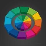 rotella di colore 3d Immagini Stock Libere da Diritti