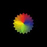 Rotella di colore sul nero Immagini Stock