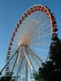 Rotella di Ferris al pilastro del blu marino, Chicago Fotografia Stock Libera da Diritti
