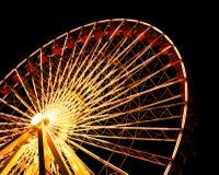 Rotella di Ferris al pilastro del blu marino del Chicago Immagine Stock