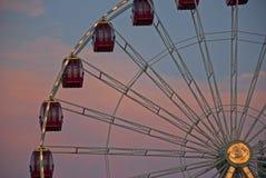 Rotella di Ferris al tramonto Immagine Stock Libera da Diritti