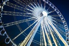 Rotella di Ferris alla notte. Fotografie Stock