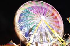Rotella di Ferris alla notte Immagine Stock Libera da Diritti