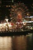 Rotella di Ferris alla notte Immagini Stock