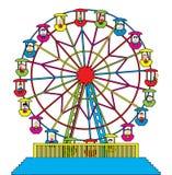 Rotella di Ferris con i bambini felici Fotografia Stock