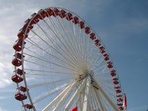 Rotella di Ferris del pilastro del blu marino Fotografia Stock
