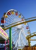 Rotella di Ferris del pilastro della Santa Monica Fotografia Stock Libera da Diritti
