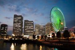 Rotella di Ferris della spiaggia di Yokohama Fotografie Stock Libere da Diritti