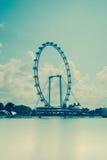 Rotella di Ferris: L'aletta di filatoio di Singapore Immagine Stock