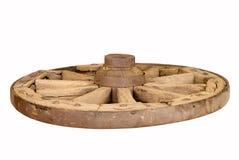 Rotella di legno antica Immagini Stock