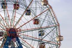 Rotella di meraviglia alla sosta di Astroland dell'isola di Coney Fotografia Stock Libera da Diritti