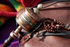 Rotella di preghiera buddista Immagini Stock Libere da Diritti
