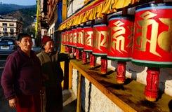 Rotella di preghiera buddista Immagine Stock Libera da Diritti