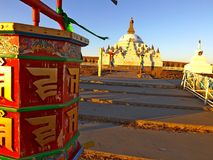 Rotella di preghiera buddista fotografia stock libera da diritti