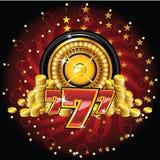 Rotella di roulette dorata illustrazione di stock