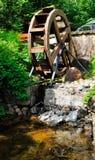 Rotella di un watermill Fotografia Stock