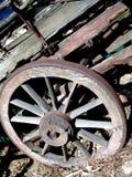 Rotella di vagone esposta all'aria Fotografie Stock Libere da Diritti