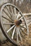 Rotella di vagone rustica Immagini Stock