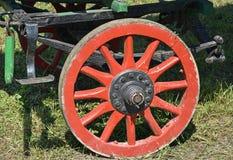 Rotella di vecchio carrello Fotografia Stock