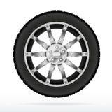 Rotella e pneumatico di automobile illustrazione di stock