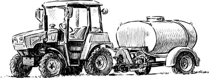 4 Rotella-Guidi il trattore #5 Immagini Stock