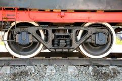 Rotelle del ferro della locomotiva Immagine Stock