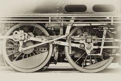 Rotelle del motore a vapore Fotografie Stock