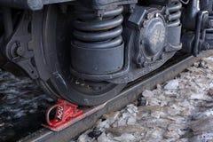 Rotelle del treno Fotografia Stock Libera da Diritti