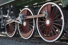 Rotelle del treno Immagine Stock