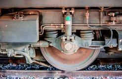Rotelle del treno Fotografia Stock