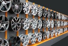 Rotelle dell'alluminio dell'automobile Fotografie Stock