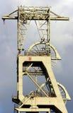 Rotelle dell'ingresso della miniera della miniera di carbone fotografie stock libere da diritti