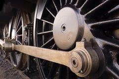 Rotelle della locomotiva di vapore Immagini Stock Libere da Diritti
