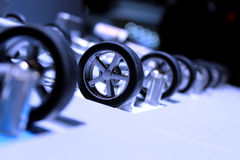 Rotelle di automobile Immagini Stock