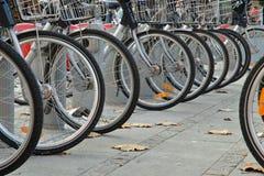 Rotelle di bicicletta Fotografie Stock