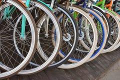 Rotelle di bicicletta fotografie stock libere da diritti