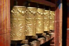 Rotelle di preghiera al monastero di Drepung Fotografia Stock Libera da Diritti