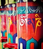 Rotelle di preghiera buddisti Fotografia Stock Libera da Diritti